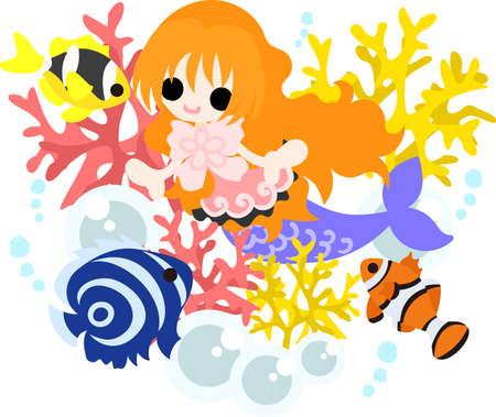 夏の思い出とかわいい人魚