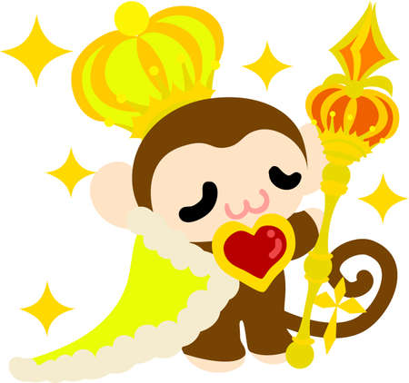 personification: The pretty little monkey which does the figure of the king