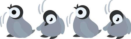 nodding: The pretty penguin babies nodding