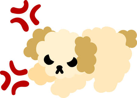 cute dog: The cute dog is angry