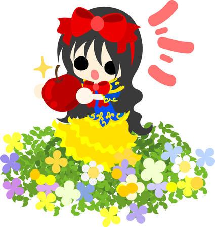 snow white: Illustration of pretty Snow White