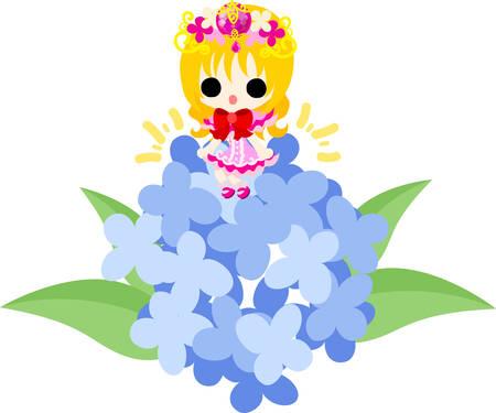 Illustration of pretty small princess