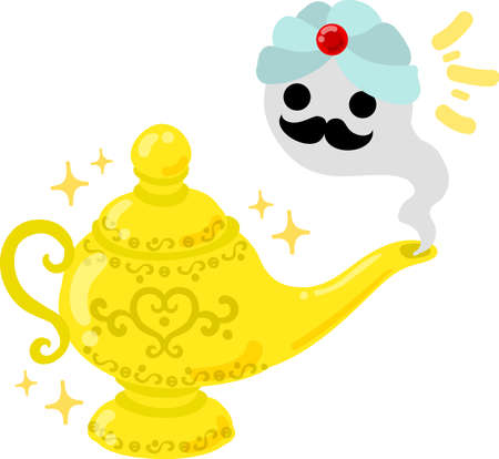 Illustration of the pretty magic lamp  イラスト・ベクター素材