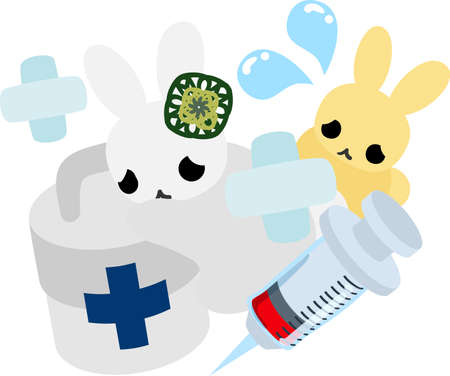 firstaid: The pretty little rabbits and first-aid kit