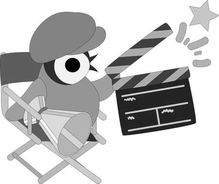 movie director: The pretty penguin baby which does the figure of the movie director