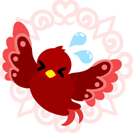 A troubled cute little bird of mysterious design Illustration