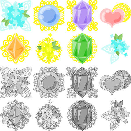 The pretty and stylish accessory icons