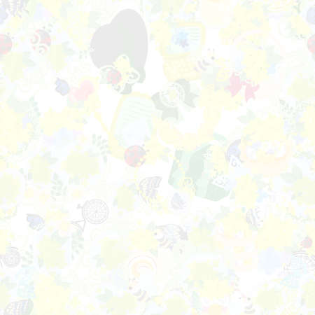 The texture that is made with various miscellaneous goods of yellow flowers