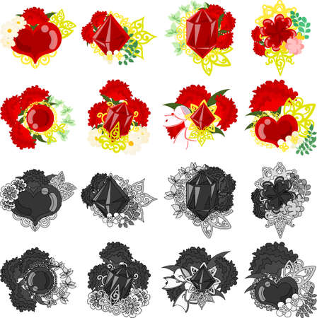 The icons of stylish and beautiful carnation jewels