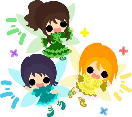 The cute and little fairies