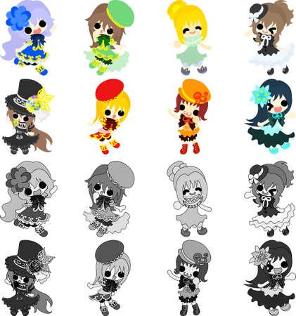 The icons of stylish girls