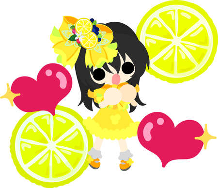 Lemons and a cute little girl in love