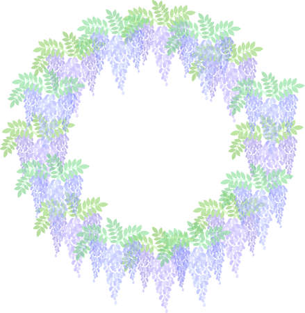 The frame that is made with wisteria