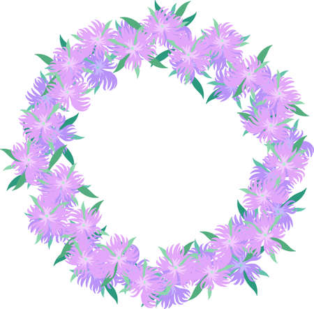 The frame that is made with dianthus