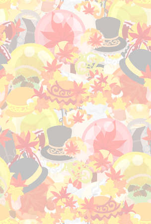 The texture that is made with miscellaneous goods which imaged autumn
