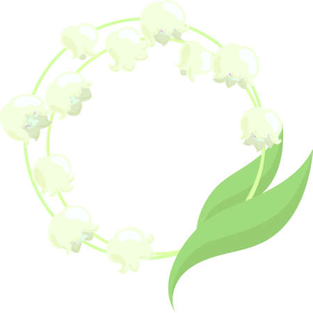 The frame that is made with lilies of the valley