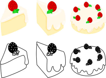 The cute icons of chiffon cake