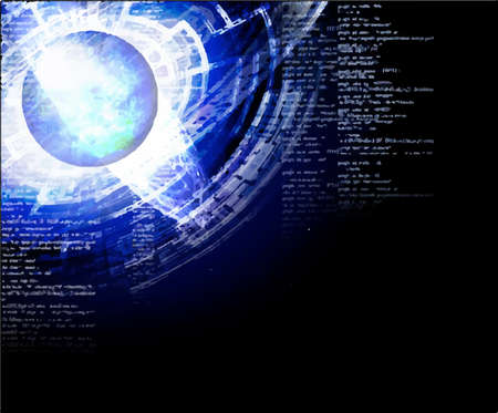 The illustration which imaged cyber space