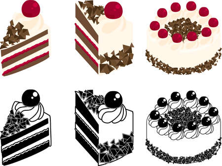 The cute icons of kirsch torte