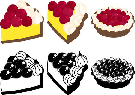 The cute icons of cherry tart
