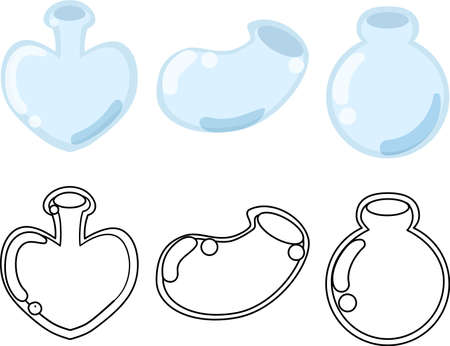 The cute icons of glass bottle