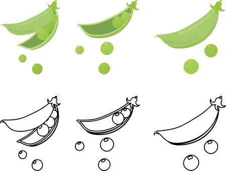 The cute icons of pea