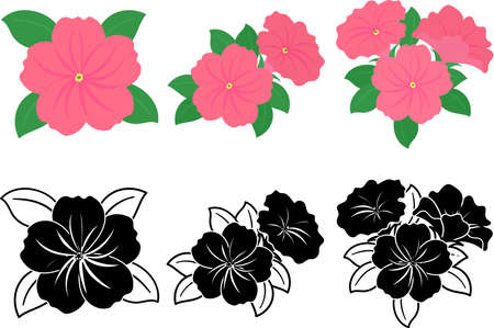 The cute icons of petunia