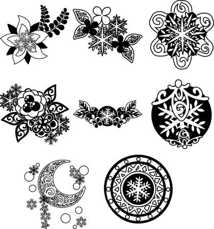 The various cute icons of accessories winter season