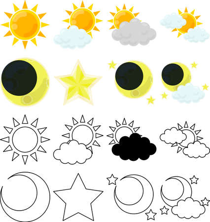 The cute icons that tells sunny weather