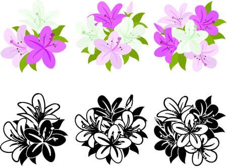 The cute icons of azalea  イラスト・ベクター素材