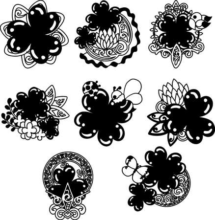 The icons of stylish clover jewel