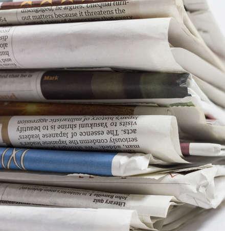 short phrase: Newspaper close up