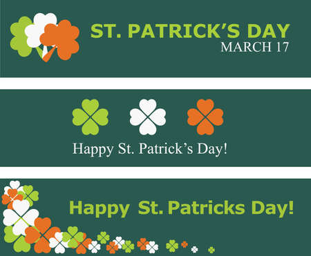 st: Set of St. Patricks day banners