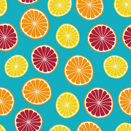 Colorful citruses vector seamless pattern Vector