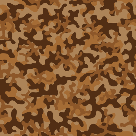 Seamless camouflage pattern. Abstract exotic trend floral military background. Camouflage seamless pattern for army, navy, hunting, fashion cloth textile. Color modern soldier . Vector fabric texture. Ilustração