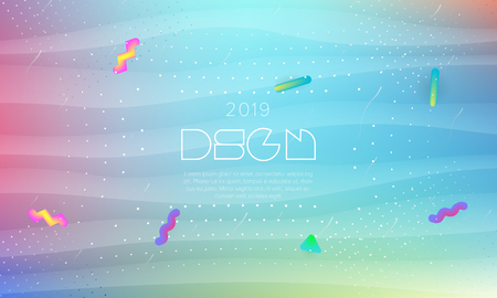 Futuristic background with liquid colors. Fluid shapes on minimalistic backdrop. Vector design template.