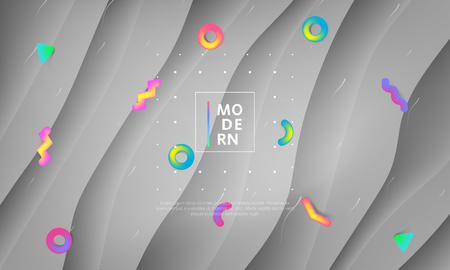 Abstract vector geometric background. Landing page for commercial business concept. Çizim