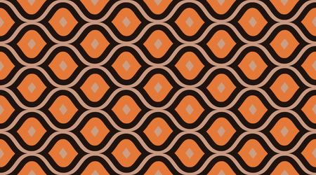 Patrones geométricos sin fisuras. Papel tapiz de textura de tela retro. Decoración de arte gráfico de lujo creativo. Patrón de vector transparente.
