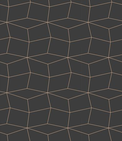 Continuous Linear Graphic Diagonal Textile Texture. Dark Creative Vector, Cell Repeat Pattern. Repetitive Monochrome Poly, Array Texture. Modern Design Pattern Stock fotó - 149524905