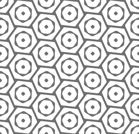 Continuous Fabric Graphic Rhombus, Art Texture. Repeat Fashion Vector Hexagon Wallpaper Pattern. Repetitive Black Cell, Backdrop Pattern. Simple Decor Texture