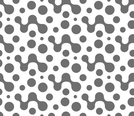 Continuous Abstract Vector Circle Pattern Texture. Repeat Simple Graphic Flow Array Pattern. Seamless Black Smooth Tile Pattern. Elegant Lattice Texture. Stock fotó - 149524912