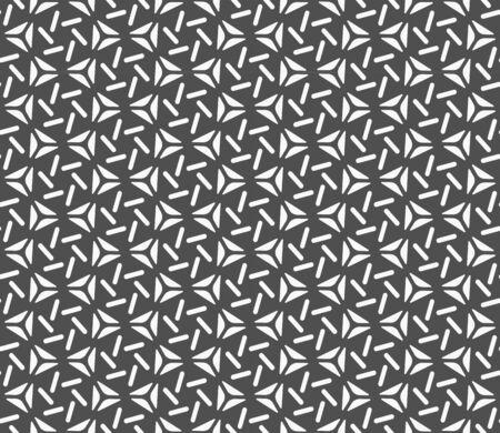 Continuous Retro Vector Wavy Art Pattern. Repetitive White Graphic Symmetrical Swatch Texture. Seamless Monochrome Circle Shapes Texture. Line Plexus Pattern.
