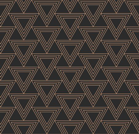 Repetitive Vintage Graphic Geo Array Texture. Repeat Fabric Vector, Continuous Repetition Pattern. Continuous Asian Poly, Lattice Pattern. Classic Shapes Texture