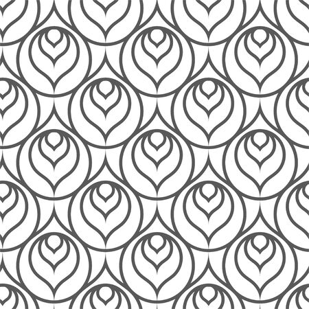 Continuous Monochrome Graphic 1920 Print Texture. Repeat Wave Vector Silver Grid Pattern. Repetitive Retro Great Array Texture. Fashion Backdrop Pattern.