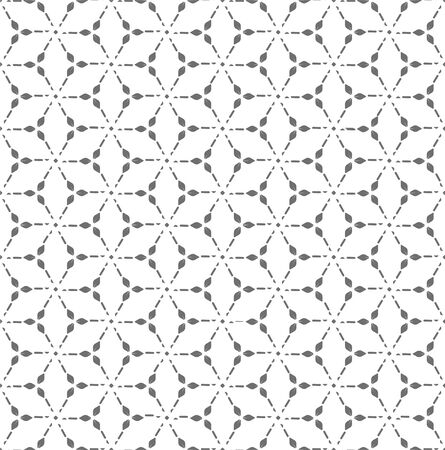 Repetitive Elegant Graphic Curved Lattice Pattern. Repeat Modern Vector Wavy Grid Texture. Continuous Classic Silver Pattern Texture. Wave Tile Pattern. Vectores