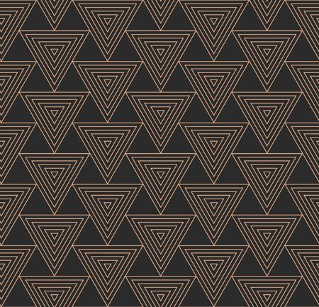 Seamless Classic Graphic Triangular Background Pattern. Repeat East Vector, Geo Design Texture. Continuous Fabric Cell, Art Pattern. Creative Print Texture Illusztráció