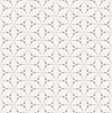 Repetitive Creative Graphic Thirties Wallpaper Texture. Repeat Islamic Vector Circle Print Pattern. Seamless Vintage Continuous Grid Pattern. Ornate Textile Texture.