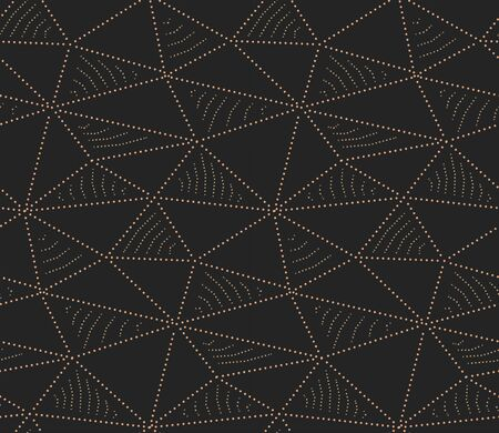Seamless Minimal Graphic Hexagon Wallpaper Pattern. Continuous Decorative Vector, Cell Decoration Texture. Repetitive White Triangle, Tile Texture. Ramadan Plexus Pattern