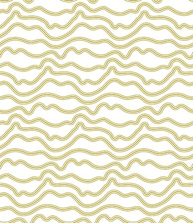 Repetitive Line Graphic Continuous Print Texture. Continuous Monochrome Vector Curly Pattern Pattern. Seamless Ramadan Flow Lattice Texture. Asian Shapes Pattern. Векторная Иллюстрация