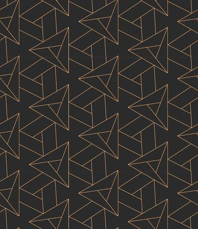 Repeat Classic Vector Geo Textile Texture. Dark Monochrome Graphic, Cell Grid Pattern. Continuous Fabric Triangular, Lattice Pattern. Vintage Wallpaper Texture